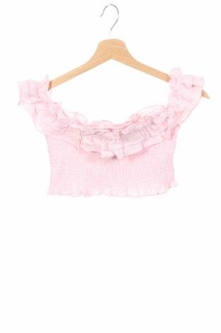Детска блуза Bardot, Размер 9-10y/ 140-146 см, Цвят Розов, 55% лен, 45% памук, Цена 4,10лв.