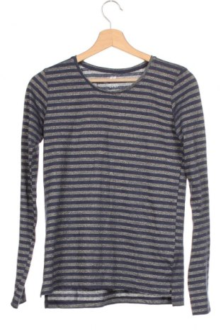 Детска блуза H&M, Размер 14-15y/ 168-170 см, Цвят Син, 70% памук, 25% полиестер, 5% метални нишки, Цена 15,75лв.