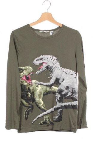 Детска блуза H&M, Размер 12-13y/ 158-164 см, Цвят Зелен, Памук, Цена 12,60лв.