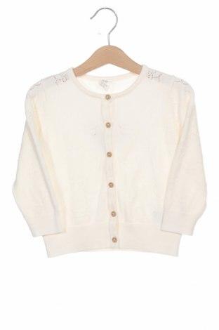 Детска жилетка H&M, Размер 18-24m/ 86-98 см, Цвят Бял, Памук, Цена 9,57лв.