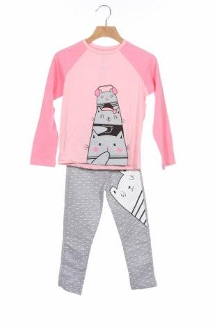 Dětské pyžamo Denokids, Velikost 4-5y/ 110-116 cm, Barva Růžová, 92% bavlna, 8% elastan, Cena  392,00Kč