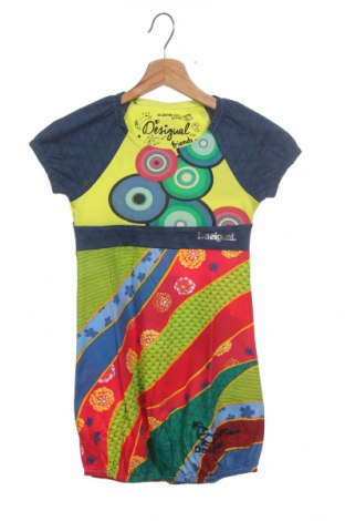 Детска рокля Desigual, Размер 7-8y/ 128-134 см, Цвят Многоцветен, Памук, Цена 47,40лв.