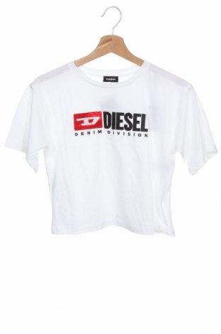 Детска тениска Diesel, Размер 7-8y/ 128-134 см, Цвят Бял, 100% памук, Цена 33,97лв.