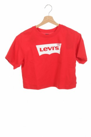 Детска тениска Levi's, Размер 12-13y/ 158-164 см, Цвят Червен, Памук, Цена 21,07лв.