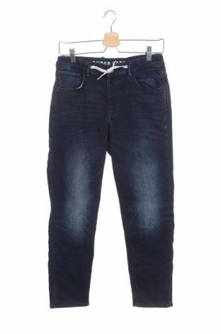 Dětské džíny  H&M, Velikost 12-13y/ 158-164 cm, Barva Modrá, 75% bavlna, 22% polyester, 3% elastan, Cena  335,00Kč