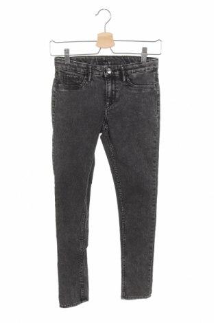 Dětské džíny  H&M, Velikost 11-12y/ 152-158 cm, Barva Šedá, 74% bavlna, 24% polyester, 2% elastan, Cena  351,00Kč