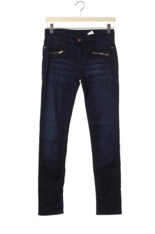 Dětské džíny  H&M, Velikost 13-14y/ 164-168 cm, Barva Modrá, 38% lyocell, 32% bavlna, 28% polyester, 2% elastan, Cena  316,00Kč