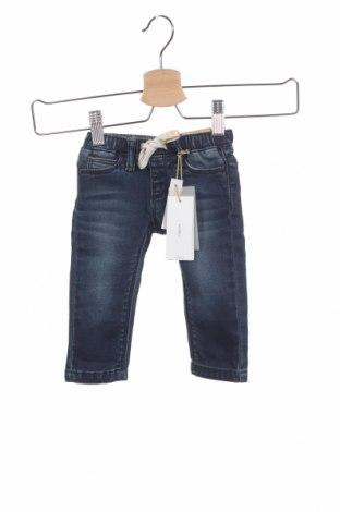 Dětské džíny  Noppies, Velikost 3-6m/ 62-68 cm, Barva Modrá, 99% bavlna, 1% elastan, Cena  641,00Kč