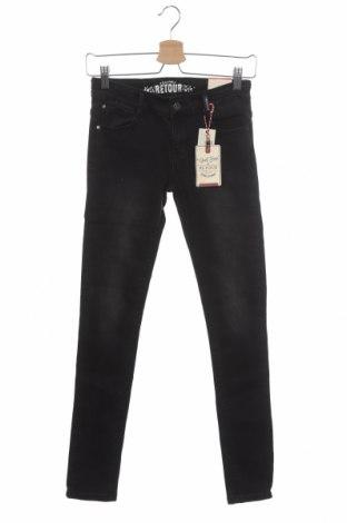 Детски дънки Retour Jeans, Размер 12-13y/ 158-164 см, Цвят Сив, 66% памук, 32% полиестер, 2% еластан, Цена 11,66лв.