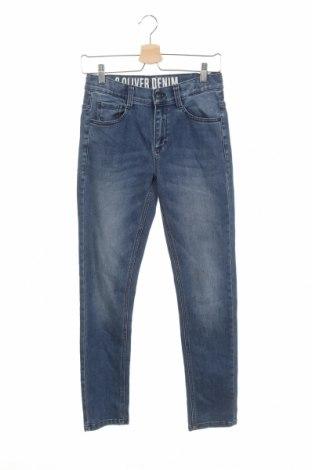 Dětské džíny  S.Oliver, Velikost 12-13y/ 158-164 cm, Barva Modrá, 68% bavlna, 31% polyester, 1% elastan, Cena  351,00Kč