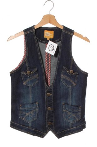 Dětská vesta  One By One, Velikost 15-18y/ 170-176 cm, Barva Modrá, 72% bavlna, 26% polyester, 2% elastan, Cena  100,00Kč