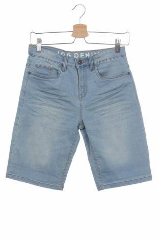Dětské krátké kalhoty  C&A, Velikost 11-12y/ 152-158 cm, Barva Modrá, 65% bavlna, 33% polyester, 2% elastan, Cena  178,00Kč