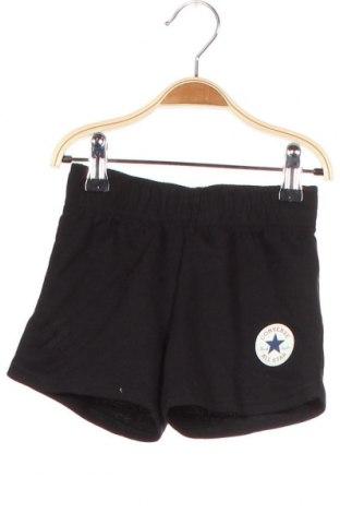 Детски къс панталон Converse, Размер 2-3y/ 98-104 см, Цвят Черен, 60% памук, 40% полиестер, Цена 49,00лв.