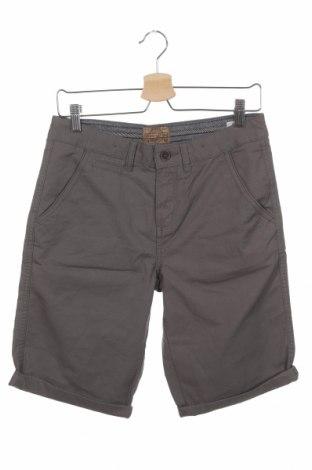 Παιδικό κοντό παντελόνι Here+There, Μέγεθος 14-15y/ 168-170 εκ., Χρώμα Γκρί, Βαμβάκι, Τιμή 11,11€