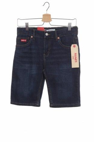 Детски къс панталон Levi's, Размер 14-15y/ 168-170 см, Цвят Син, 73% памук, 17% полиестер, 9% вискоза, Цена 25,37лв.
