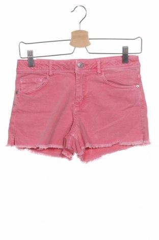 Παιδικό κοντό παντελόνι Zara, Μέγεθος 13-14y/ 164-168 εκ., Χρώμα Ρόζ , 99% βαμβάκι, 1% ελαστάνη, Τιμή 6,43€