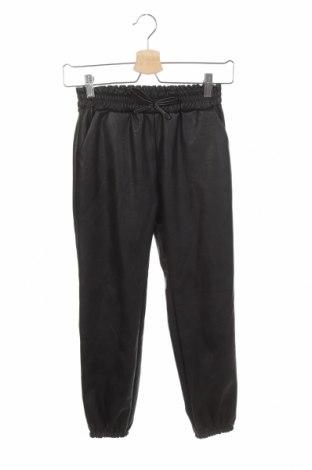 Dětské kožené kalhoty , Velikost 11-12y/ 152-158 cm, Barva Černá, Eko kůže, Cena  178,00Kč
