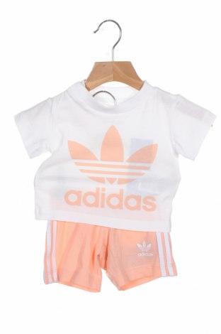 Set pentru copii Adidas Originals, Mărime 2-3m/ 56-62 cm, Culoare Roz, Bumbac, Preț 87,34 Lei