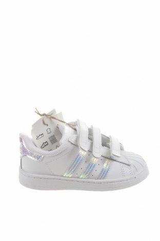 Dětské boty  Adidas Originals, Velikost 24, Barva Bílá, Pravá kůže, Eko kůže, Cena  976,00Kč