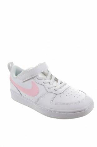 Dětské boty  Nike, Velikost 34, Barva Bílá, Pravá kůže, Eko kůže, Cena  1294,00Kč