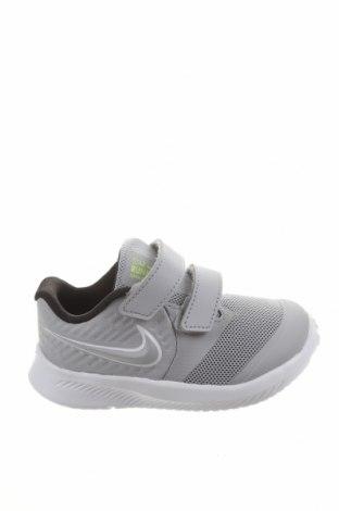 Dětské boty  Nike, Velikost 23, Barva Šedá, Polyurethane, textile , pravá kůže, Cena  1294,00Kč