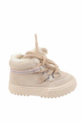 Dětské boty  Zara, Velikost 18, Barva Béžová, Přírodní velur , Cena  573,00Kč