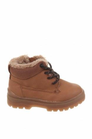 Dětské boty  Zara, Velikost 21, Barva Hnědá, Eko kůže, Cena  500,00Kč