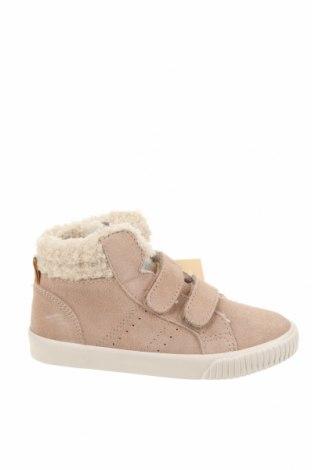 Детски обувки Zara, Размер 25, Цвят Бежов, Естествен велур, Цена 31,15лв.