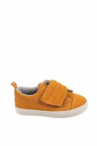 Детски обувки Zara, Размер 21, Цвят Оранжев, Естествен велур, Цена 26,22лв.