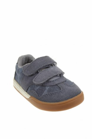 Детски обувки Zara Kids, Размер 20, Цвят Син, Естествен велур, текстил, Цена 17,40лв.