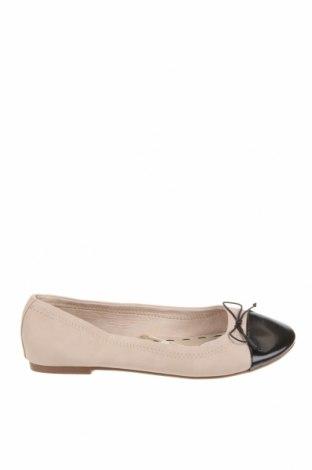 Детски обувки Zara, Размер 37, Цвят Бежов, Еко кожа, Цена 25,92лв.