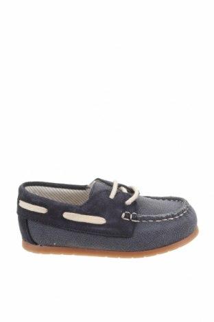 Детски обувки Zara, Размер 21, Цвят Син, Текстил, естествен велур, Цена 11,25лв.