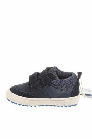 Детски обувки Zara, Размер 20, Цвят Син, Еко кожа, текстил, естествен велур, Цена 17,70лв.
