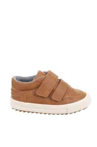 Детски обувки Zara, Размер 21, Цвят Кафяв, Еко кожа, Цена 18,90лв.