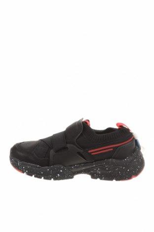 Детски обувки Zara, Размер 28, Цвят Черен, Еко кожа, текстил, Цена 24,80лв.