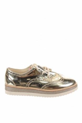 Детски обувки Zara, Размер 37, Цвят Златист, Еко кожа, Цена 27,00лв.