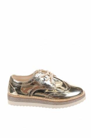 Детски обувки Zara, Размер 31, Цвят Златист, Еко кожа, Цена 27,00лв.