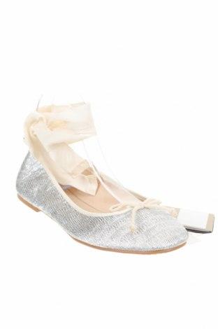 Детски обувки Zara, Размер 38, Цвят Сребрист, Текстил, Цена 18,90лв.