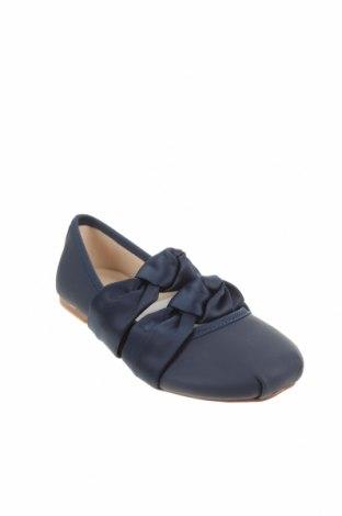 Детски обувки Zara, Размер 27, Цвят Син, Еко кожа, текстил, Цена 27,00лв.