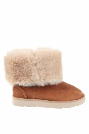 Dětské boty  Zara Kids, Velikost 35, Barva Hnědá, Eko kůže, textile , Cena  619,00Kč