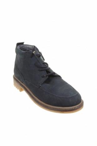 Детски обувки Zara Kids, Размер 35, Цвят Син, Естествена кожа, Цена 35,60лв.