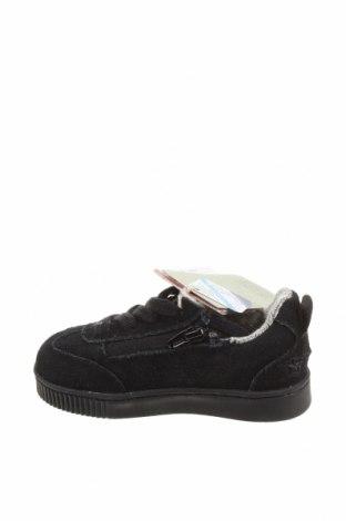 Детски обувки Zara Kids, Размер 21, Цвят Черен, Естествен велур, Цена 30,74лв.