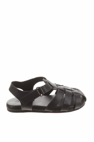 Детски сандали Zara, Размер 21, Цвят Черен, Еко кожа, Цена 8,33лв.