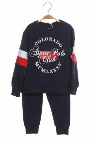 Set de sport pentru copii Aspen Polo Club, Mărime 3-4y/ 104-110 cm, Culoare Albastru, 95% bumbac, 5% elastan, Preț 145,56 Lei