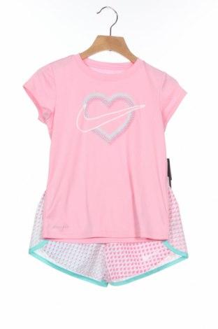 Детски спортен комплект Nike, Размер 4-5y/ 110-116 см, Цвят Розов, 100% полиестер, Цена 50,37лв.