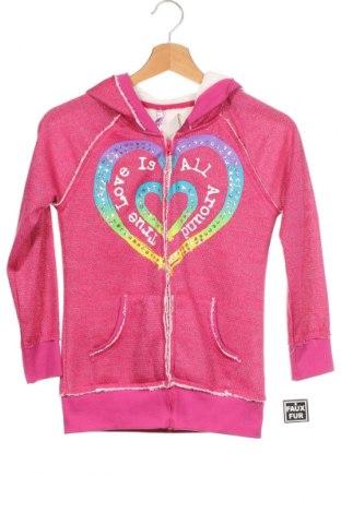 Dětská mikina , Velikost 9-10y/ 140-146 cm, Barva Růžová, 88% polyester, 12% kovové nitě, Cena  401,00Kč