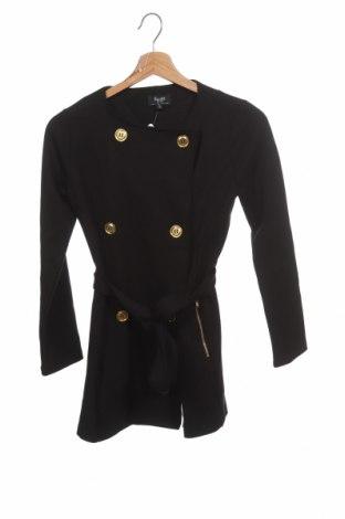 Детско палто Bardot, Размер 8-9y/ 134-140 см, Цвят Черен, 55% вискоза, 38% полиестер, 7% еластан, Цена 29,61лв.