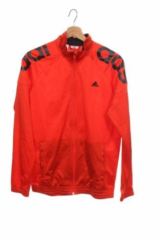 Dětská horní část sportovní soupravy Adidas, Velikost 15-18y/ 170-176 cm, Barva Červená, Polyester, Cena  306,00Kč