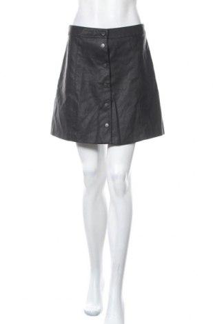 Δερμάτινη φούστα H&M Divided, Μέγεθος M, Χρώμα Μαύρο, Δερματίνη, Τιμή 6,37€