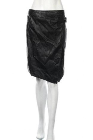 Δερμάτινη φούστα H&M Divided, Μέγεθος M, Χρώμα Μαύρο, Δερματίνη, Τιμή 18,22€